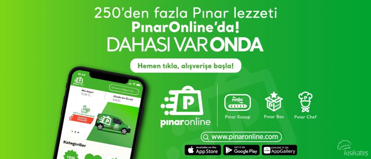 Pınar Ürünleri Bir Tıkla Kapınızda!