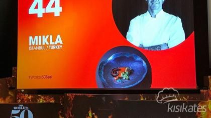 Mikla Restaurant, The World's 50 Best Restaurant 2018 listesinde 44. sıraya yükseldi