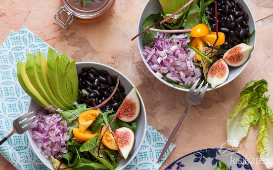 Siyah Fasulyeli Fit Salata