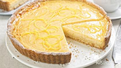 Zencefilli Çörek Tabanlı Limonlu Tart