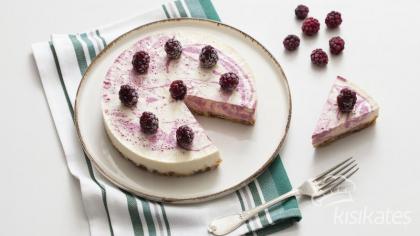 Böğürtlenli Raw Cheesecake