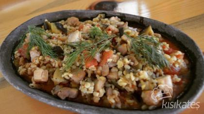 Bulgurlu Tavuk Etli Patlıcan