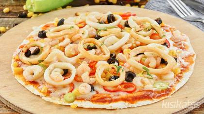 Deniz Mahsullü Lavaş Pizza