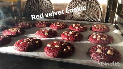Çikolatalı Kırmızı kadife kurabiye